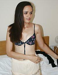 jasmine changing her bra in her bedroom in front of her boyfriend