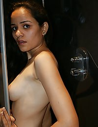 jasmine in shower rubbing herself with pipe