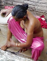 delicious indian babe open air shower