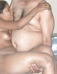 Indian couple having good time in bedroom